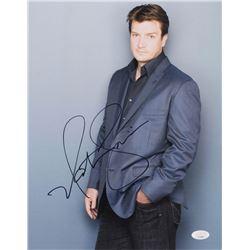 """Nathan Fillion Signed """"Castle"""" 11x14 Photo (JSA COA)"""