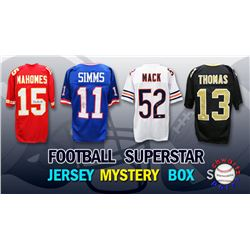 Schwartz Sports Football Superstar Signed Mystery Box Football Jersey - Series 24 - (Limited to 100)