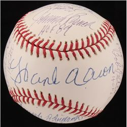 Hall Of Famers OML Baseball Signed by (15) with Hank Aaron, Fergie Jenkins, Duke Snider, Carlton Fis
