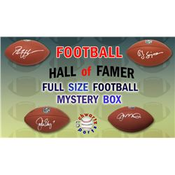 Schwartz Sports Football Hall of Famer Signed Full-Size Football Mystery Box - Series 2 (Limited to