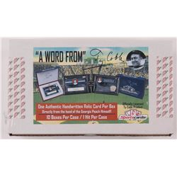"""Ty Cobb """"A Word From"""" Authentic Hand-Written Relic Card Factory Sealed Case of (10) Boxes"""