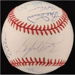 Hall Of Famers OAL Baseball Signed by (13) with Gaylord Perry, Johnny Mize, Rollie Fingers, Mel Alle