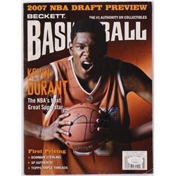 Kevin Durant Signed 2007 Beckett Basketball Magazine (JSA COA)