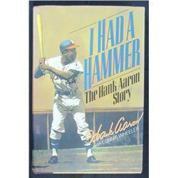 """Hank Aaron Signed """"I Had A Hammer"""" Hardcover Book (JSA COA)"""