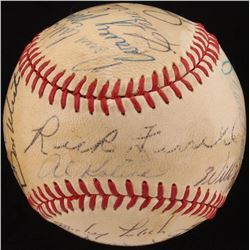 Stars  Hall Of Famers ONL Baseball Signed by (13) with Al Kaline, Rick Ferrell, Frank Frisch, Norm C