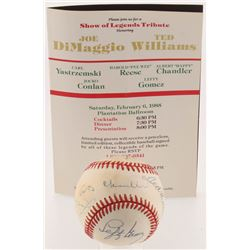 Lot of (3) Baseball Items with (1) OAL Baseball Signed by (13) with Joe DiMaggio, Carl Yastrzemski,