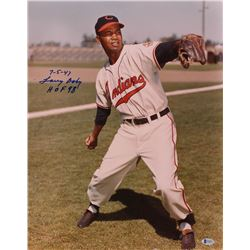 """Larry Doby Signed Indians 16x20 Photo Inscribed """"7-5-47""""  """"HOF 98"""" (Beckett COA)"""