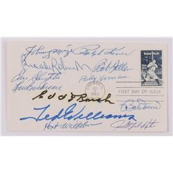 MLB Hall of Famers FDC Envelope Signed by (12) with Ralph Kiner, Brooks Robinson, Johnny Mize, Geoge