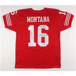 "Joe Montana  Dwight Clark Signed Jersey Inscribed ""The Catch""  ""1.10.82"" (Beckett COA  PSA COA)"