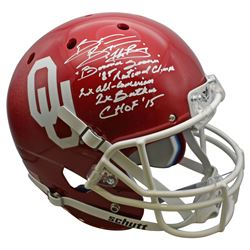 Brian Bosworth Signed Oklahoma Sooners Full-Size Helmet with Multiple Career Stat Inscriptions (Beck