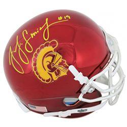 JuJu Smith-Schuster Signed USC Trojans Chrome Mini Helmet (Beckett COA)