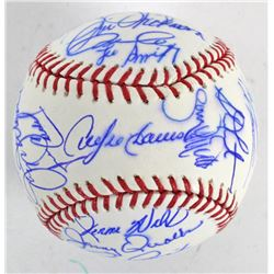 Chicago Cubs Legends Signed OML Baseball Signed by (27) with Ernie Banks, Andre Dawson, Lee Smith, B