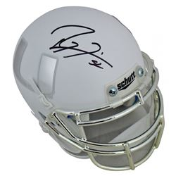Ray Lewis Signed Miami Hurricanes Matte White Mini-Helmet (Beckett COA)