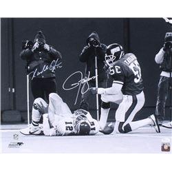 Lawrence Taylor  Randall Cunningham Signed 16x20 Photo (JSA COA)