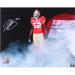 Patrick Willis Signed 49ers 16x20 Photo (Beckett COA)