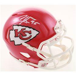 Chris Jones Signed Chiefs Speed Mini Helmet (Beckett COA)