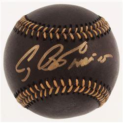 "Craig Biggio Signed Black Leather OML Baseball Inscribed ""HOF 15"" (TriStar Hologram)"