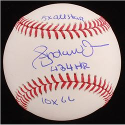 """Andruw Jones Signed OML Baseball Inscribed """"5x All Star"""", """"434 HR"""",  """"10x GG"""" (JSA COA)"""