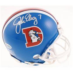 John Elway Signed Broncos Throwback Mini Helmet (Beckett COA)