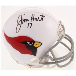Jim Hart Signed Cardinals Mini Helmet (JSA COA)