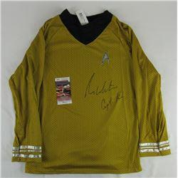 "William Shatner Signed ""Star Trek"" Prop Replica Uniform Shirt (JSA COA)"