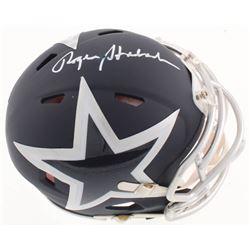 Roger Staubach Signed Cowboys AMP Speed Mini-Helmet (Beckett COA)