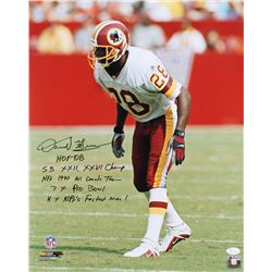 Darrell Green Signed Redskins 16x20 Photo with Multiple Inscriptions (JSA Hologram)