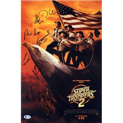 """Super Troopers 2"" 12x18 Photo Cast-Signed by (7) with Jay Chandrasekhar, Kevin Heffermen, Steve Lem"