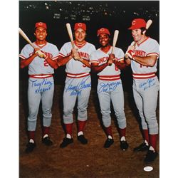 "Reds ""Big Red Machine"" 16x20 Photo Team-Signed by (4) with Tony Perez, Johnny Bench, Joe Morgan,  Pe"