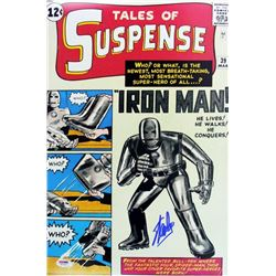 "Stan Lee Signed ""Tales of Suspense"" Iron Man 12x18 Photo (PSA COA)"