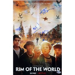 """Rim of the World"" 12x18 Photo Cast-Signed by (6) with Jack Gore, Miya Cech, Alessio Scalzotto, Bear"