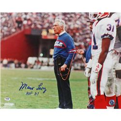 "Marv Levy Signed Bills 16x20 Photo Inscribed ""HOF'01"" (PSA COA)"