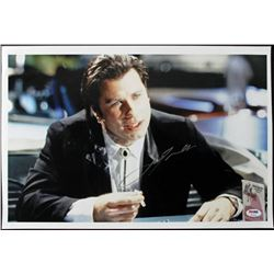 "John Travolta Signed ""Pulp Fiction"" 12x18 Photo (PSA COA)"