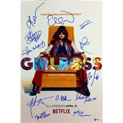 """Girl Boss"" 12x18 Photo Cast-Signed in blue felt tip pen by (12) with Britt Robertson, Johnny Simmon"
