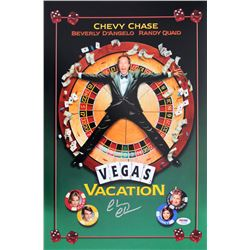 "Chevy Chase Signed ""Vegas Vacation"" 12x18 Photo (PSA COA)"