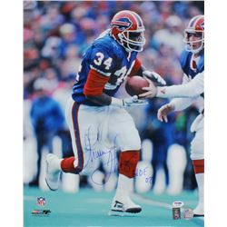 "Thurman Thomas Signed Bills 16x20 Photo Inscribed ""HOF 07"" (PSA COA  Thomas Hologram)"