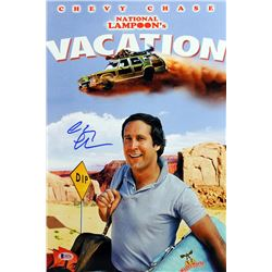 "Chevy Chase Signed ""National Lampoon's Vacation"" 12x18 Photo (Beckett COA)"
