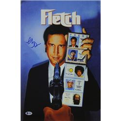 "Chevy Chase Signed ""Fletch"" 12x18 Photo (Beckett COA))"
