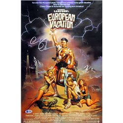 "Chevy Chase Signed ""National Lampoon's European Vacation"" 12x18 Photo (Beckett COA)"