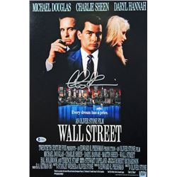 "Charlie Sheen Signed ""Wall Street"" 12x18 Photo (Beckett COA)"