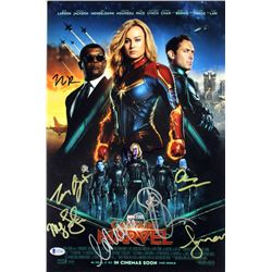 """Captain Marvel"" 12x18 Photo Cast-Signed by (7) with Ben Mendolson, Clark Gregg, Nicole Perlman, Meg"