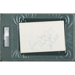 Evander Holyfield Signed 4x6 Index Card (PSA Encapsulated)