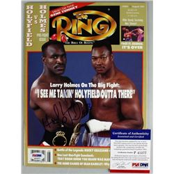 Evander Holyfield Signed 1992 The Ring  Magazine (PSA COA)
