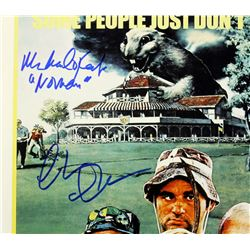 "Chevy Chase, Michael O'Keefe  Cindy Morgan Signed ""Caddyshack"" 12x18 Photo Inscribed ""Lacey""  ""Noona"