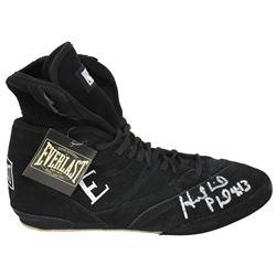 Evander Holyfield Signed Everlast Boxing Shoe (PSA COA)
