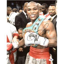 Floyd Mayweather Jr. Signed 11x14 Photo (PSA COA)