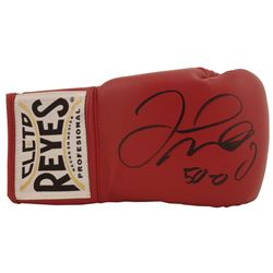 "Floyd Mayweather Jr. Signed Cleto Reyes Boxing Glove Inscribed ""50-0"" (Beckett COA)"