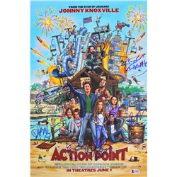 Action Point  12x18 Photo Cast-Signed by (9) with Johnny Knoxville, Chris Pontius, Brigette Lundy-P