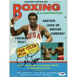 George Foreman Signed 1970 Boxing Illustrated Magazine (PSA COA)
