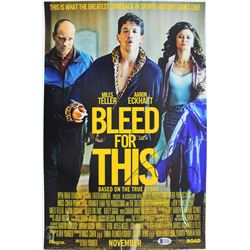 Aaron Eckhart Signed  Bleed For This  12x18 Photo (Beckett Hologram)